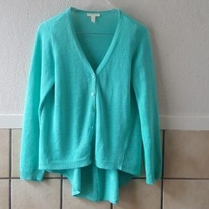 Eileen Fisher Organic Linen cardigan sweater EUC